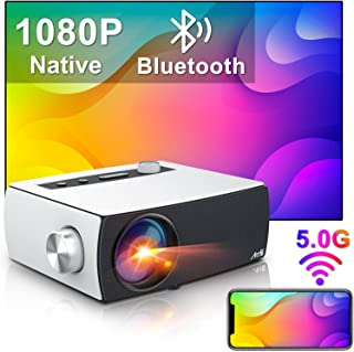 "Full HD Projektor Wifi Bluetooth, Artlii Enjoy3 Native 1080P Mini Projektor, 2.4G / 5.0G WiFi, Dolby Stereo, Max 300 ""skär..."