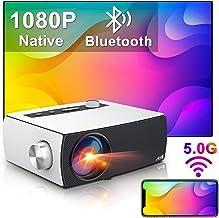 Wifi Bluetooth Projector Artlii Enjoy 3 Portable Projector 8000 Lumen Native 1080p HD Outdoor Home Video Projector 5G Wifi...