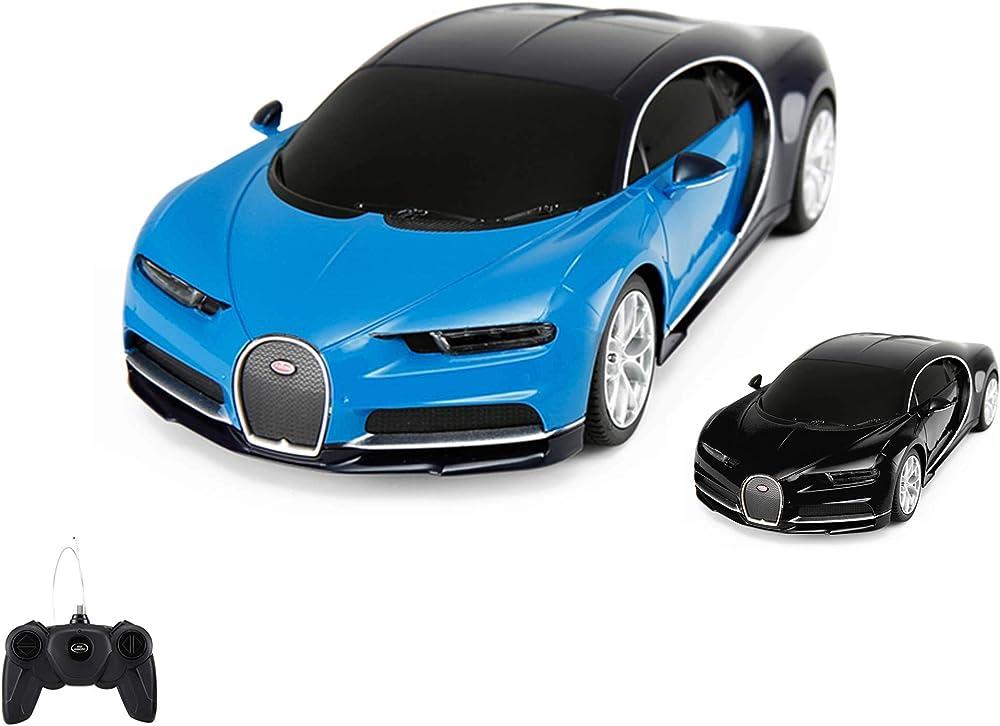 Bugatti chiron, auto con licenza radiocomandata rc, scala 1:24, ready to drive, auto con telecomando