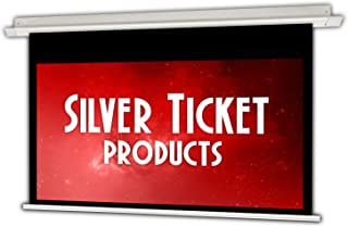 """SIE-169120 Silver Ticket 16:9 4K Ultra HD Ready HDTV in-Ceiling Electric Projector Screen (16:9, 120"""", White Material)"""