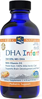 Nordic Naturals DHA Infant, Unflavored - 1050 mg Omega-3 + 300 IU Vitamin D3-4 oz - Supports Brain & Vision Development in...