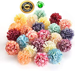Silk flowers in bulk wholesale Fake Flowers Heads DIY Artificial Silk Flowers Head for Home Wedding Party Decoration Wreath Gift Box Scrapbooking Fake Flowers 30PCS 4cm (Colorful)
