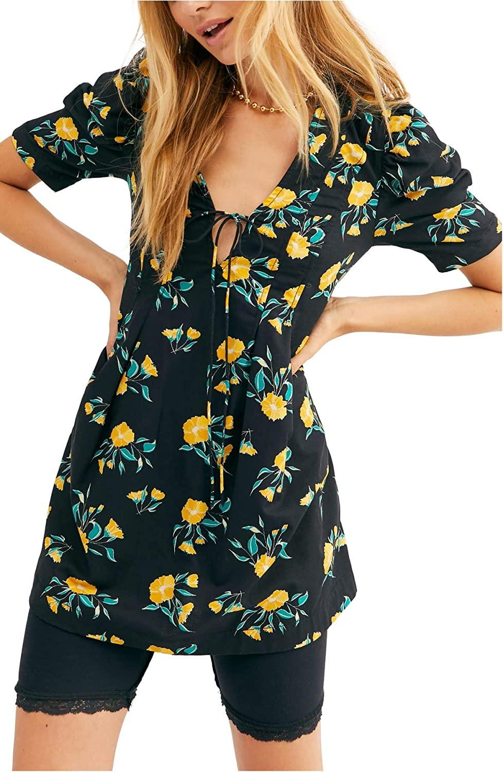 Free People Women's Adelle Floral Tunic