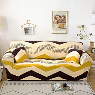 Stretch Sofa Slipcover Fitted Furniture Protector Print Sofa Cover Stylish Couch Cover with 2 Pillow Cases for Loveseats/Sofas/Sectional Couches,Chevron