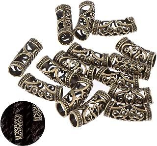 40 Pcs Hair Tube Beads Norse Viking Beard Bead Dreadlocks Cuff Tubes Braid Clips Hair Accessories