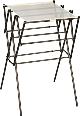 Household Essentials Steel Clothes Drying Rack, Bronze