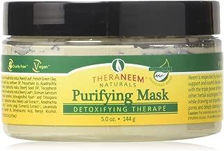 Theraneem Naturals Purifying Neem Facial Mask Cream, Lavender, 5 Ounce
