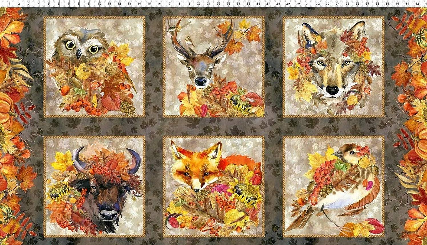 Our Autumn Friends Fabric Panel - Digital Print - 24