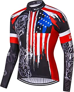 Men's Cycling Jersey Short&Long Sleeve Men Bike Shirt Tops, M-XXXL, Comfortable, Breathable and Quick-Dry