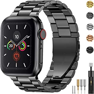 Fitlink Stainless Steel Metal Band for Apple Watch 38/40/42/44mm Strap Replacement Link Bracelet Band Compatible with Appl...