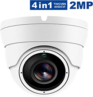 HD 1080P 4 in 1 (TVI/CVI/CVBS/AHD) Dome Security Camera, Analog Security Dome Cameras, Waterproof Outdoor/Indoor Day & Night Vision 3.6mm Lens for CCTV Camera System