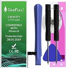 GadFull Batteria compatibile con iPhone 6S | 2019 Data di produzione | Manuale Profi Kit Set di Attrezzi | Batteria di ricambio senza cicli di ricarica | Con tutti gli APN originali