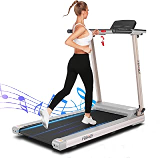 FUNMILY Treadmill, 2.25HP Folding Electric Treadmills with Large Desk and Heavy Duty Steel Frame, 12 preset Programs, Best...