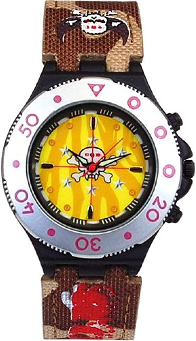 19. Call Of Duty Boy's Brown Cameo Crosshairs Icon Analogue Watch
