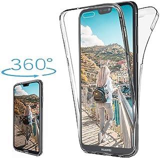 XCYYOO Coque pour Huawei P20 Lite,Huawei P20 Lite Intégrale Avant et Arrière 360 Degrés Étui de Protection,[Avant + Arrièr...