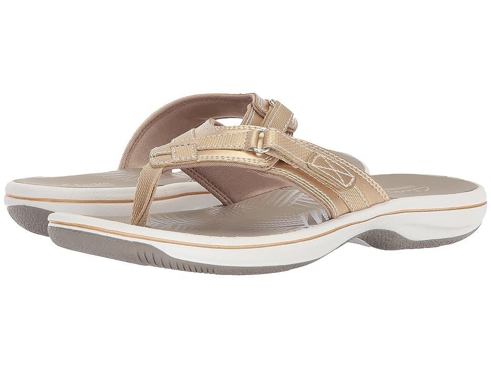 c03366675240 Clarks Breeze Sea (Gold Synthetic) Women s Sandals