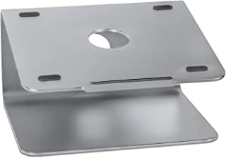 Mount-It! Swivel Laptop Stand for MacBook and PC, Aluminum Notebook Cooling Riser Dock, Fits Up to 11 to 17 Inch Computers