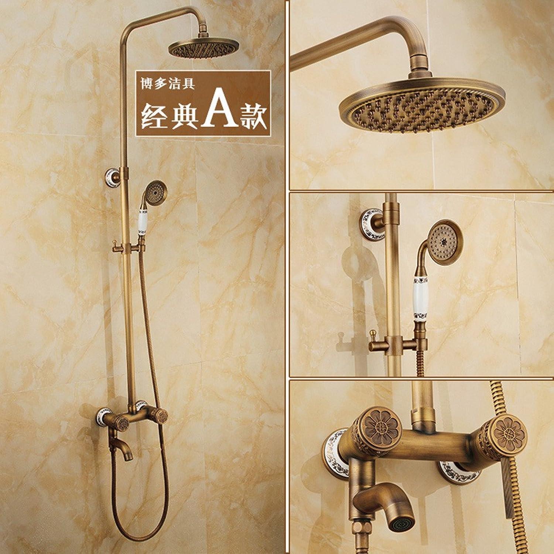 ZQ@QX Alle Kupfer antiken europischen Stil mit Dusche,)