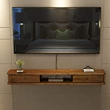 Wandmontage TV-kast Drijvende Plank Media Console Woonkamer Entertainment Unit Kabinet met Schuifdeur Audio/Video TV Stand...