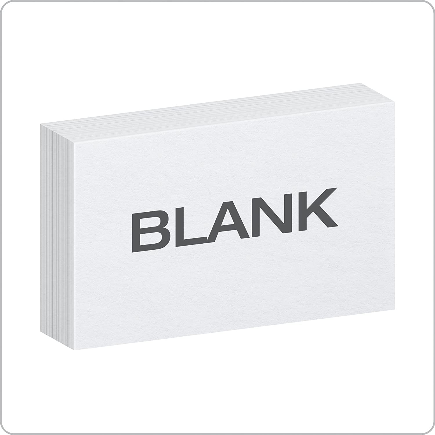 Oxford 225 X 25 Inches Blank Ruled Index Card, 22500 Count, White (1001225) Inside 3 X 5 Index Card Template