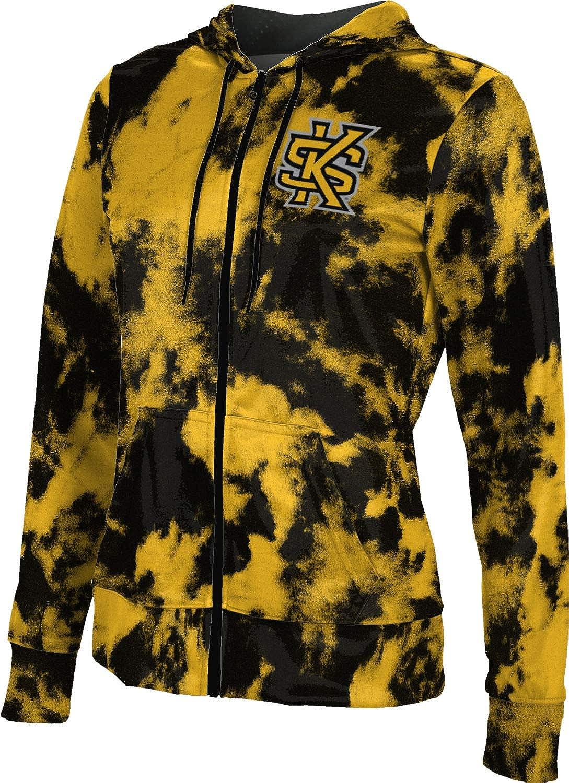 ProSphere Kennesaw State University Girls' Zipper Hoodie, School Spirit Sweatshirt (Grunge)