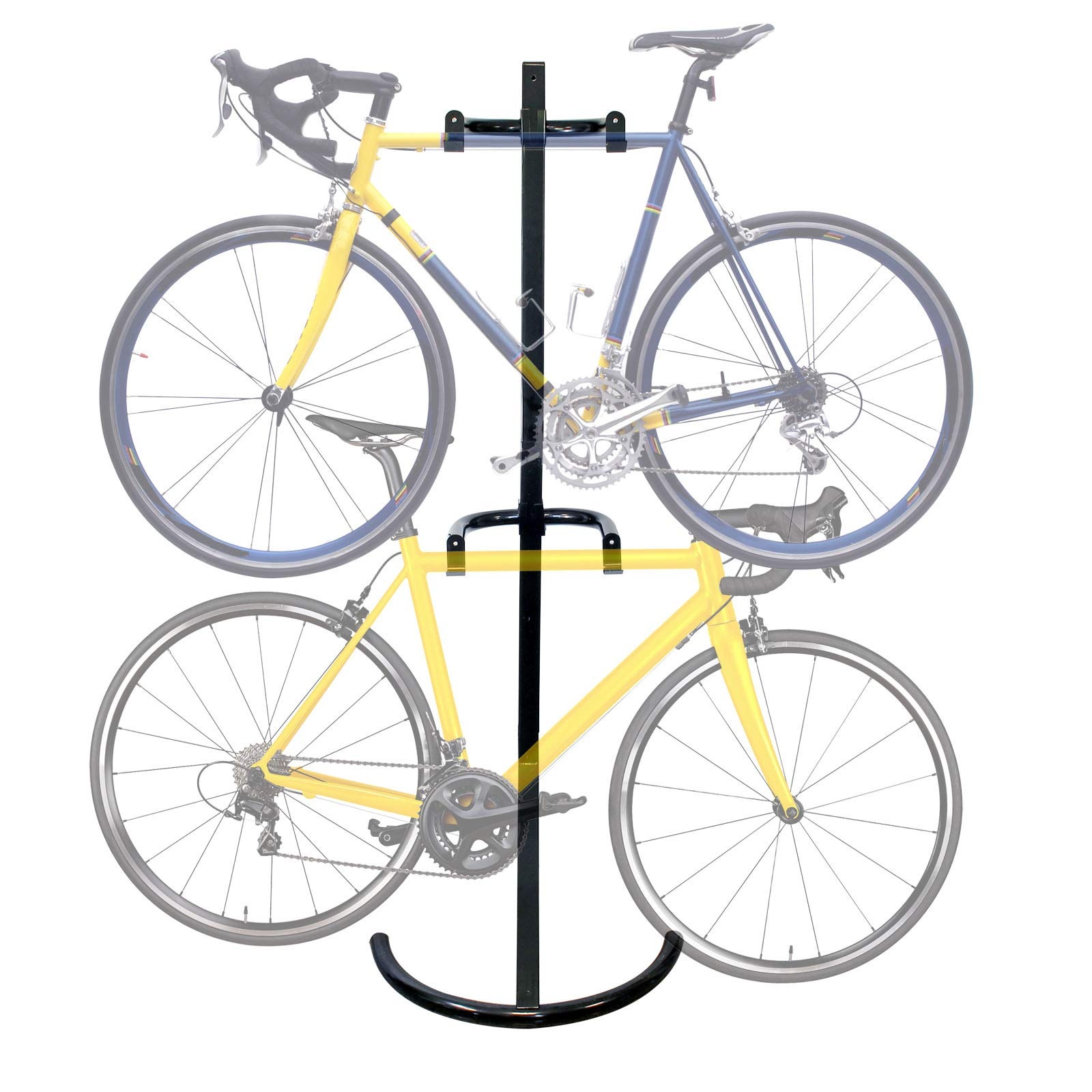 WilTec Soporte 2 Bicicletas hasta 90kg Sistema de Colgar con Brazos de sujeción Soporte bicis por Gravedad: Amazon.es: Jardín