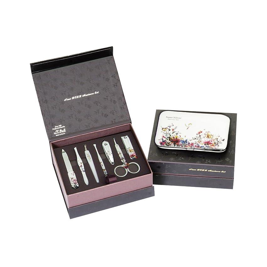 漫画ピアニスト混合METAL BELL Manicure Sets BN-8177B ポータブル爪の管理セット爪切りセット 高品質のネイルケアセット高級感のある東洋画のデザイン Portable Nail Clippers Nail Care Set