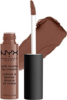 NYX PROFESSIONAL MAKEUP Soft Matte Lip Cream, High-Pigmented Cream Lipstick - Dubai, Medium Cool Brown