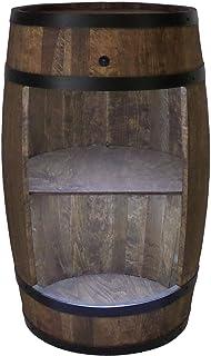 Houten vat huisbar met LED-verlichting - wijnkast in retro stijl - wijnvat bar - wijnrek hout - houten bar 80 cm hoog - el...
