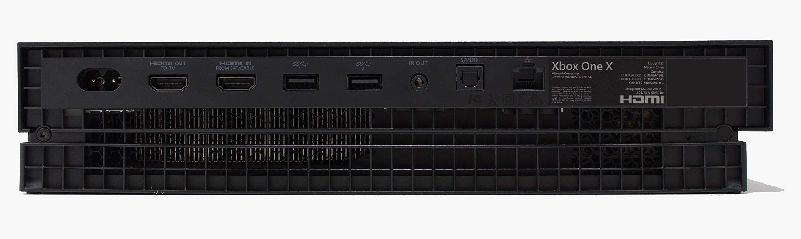 Microsoft Xbox One X - Consola de 1 TB, color negro (certificado ...