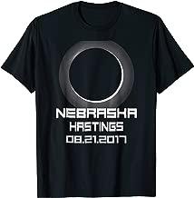 Solar Eclipse Aug 21 2017 State Of Nebraska Hastings T Shirt