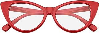 عینک Emblem - عینک فوق العاده گربه چشم Vintage مد مود عینک لنز روشن