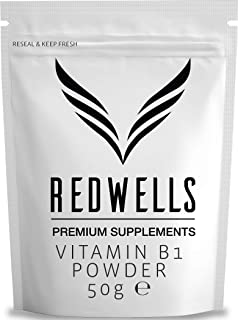 REDWELLS 50g puro Tiamina Vitamina B1 Polvo Sin aditivos químicos