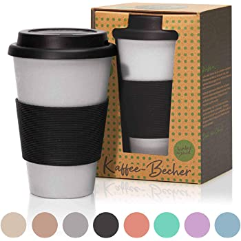 bambuswald© 3er Set ökologische Kaffeetasse mit HenkelTasse Coffee Kaffee Tee