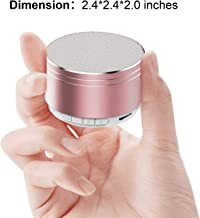 【HDEYE K02】 Wireless Mini Pocket Bluetooth Speaker New and Improved Smart Loud and Clear for Home, Sports, Outdoor, Dancing, Music Hiking, Camping, Portable Travel Speaker (Rose Gold)
