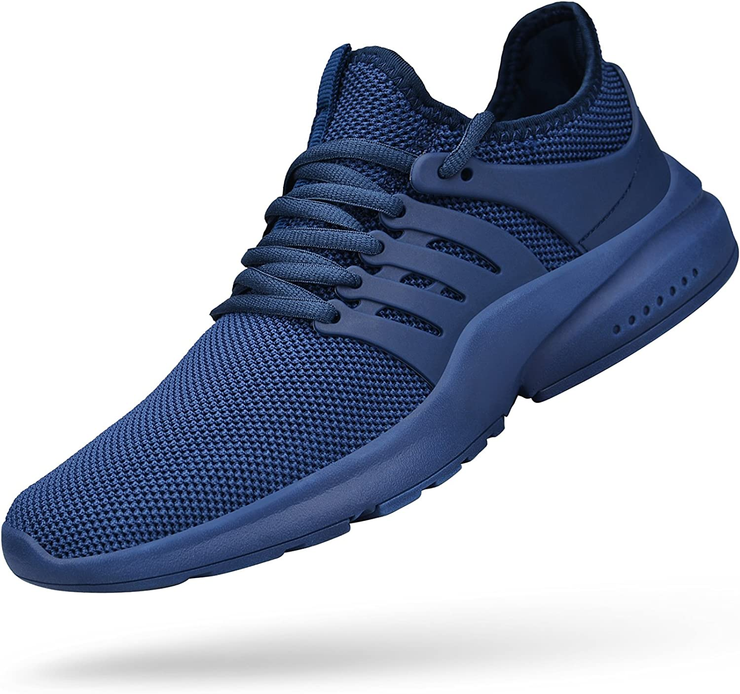ZOCAVIA Mens Gym shoes Comfortable Athletic Weightlifting Lightweight Sneakers Basketball shoes bluee 12 D(M) US