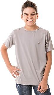 Camiseta Infantil Masculina Repelente Anti Insetos Manga Curta Extreme UV