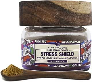 Stress Shield Reishi Mushroom Powder - Duanwood Reishi Mushroom Tea - High Potency Dual Extract Reishi Powder - USDA Certified Organic - Reduces Stress, Promotes Longevity, Supports Adrenals 1oz (30)