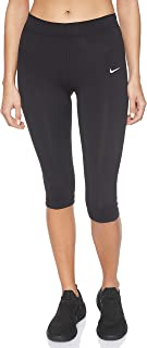 Nike Women's Legasee Knee Length Tights, Black (Black/White)