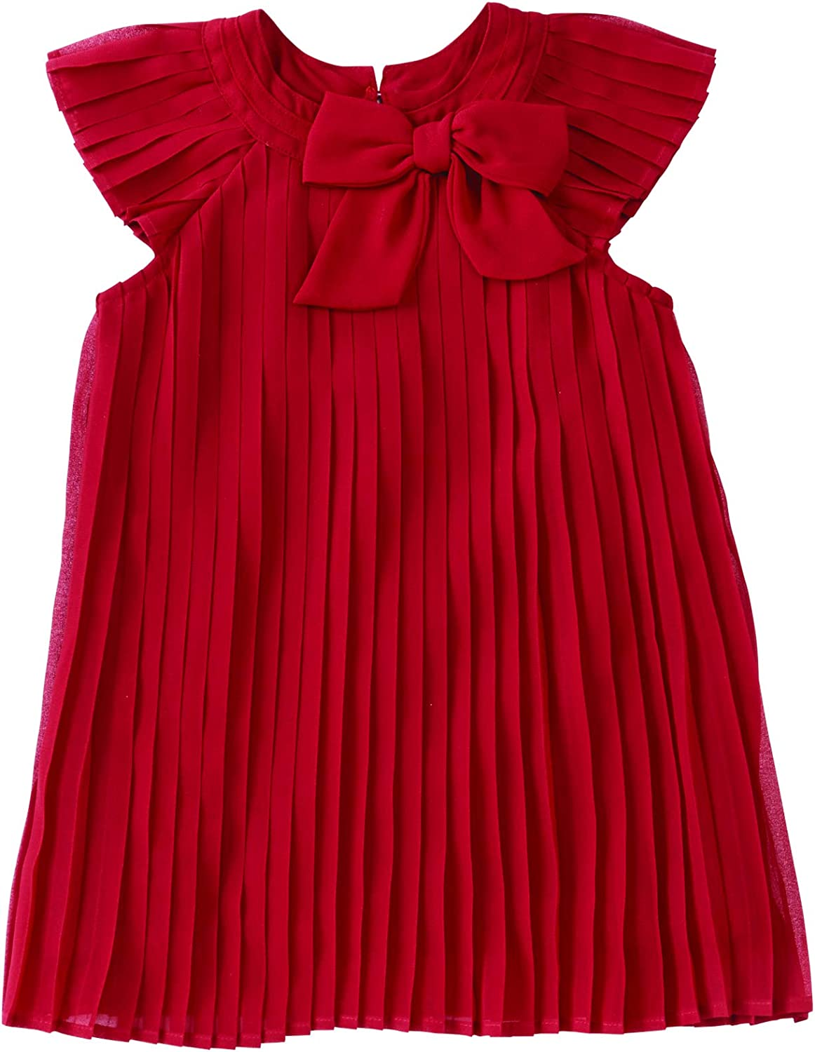 Mud Deluxe Pie Super special price Baby Girls' Claret Sleeveless Pleated Dress Ruffle