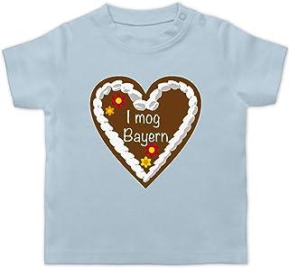 Shirtracer Oktoberfest & Wiesn Baby - Lebkuchenherz I mog Bayern - Baby T-Shirt Kurzarm