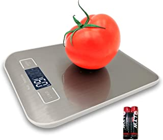 Food Scales Digital Weight Grams and oz for Kitchen,Cooking Scale Weight of Tare,Stainless Steel Platform,Max 5kg(11lb) NK...