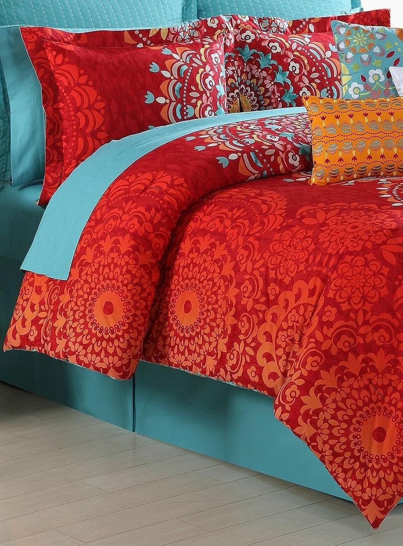 Fiesta 4 Piece Cozumel Comforter Set - King with Coordinating Bed Skirt & 2 Pillow Shams