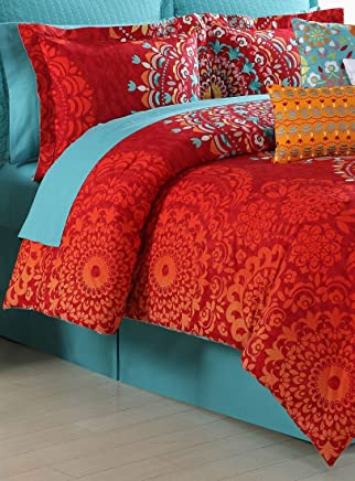 Fiesta 4 Piece Cozumel Comforter Set - King with Coordinating Bed Skirt & 2 Pillow Shams