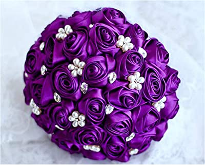 Amazon.com: Amoco Wedding Flowers White Bridesmaid Bridal ...