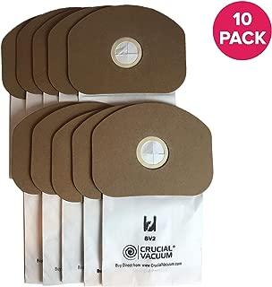 Think Crucial Replacement Vacuum Bag – Compatible with Eureka Part # 62370, B352-2500 – Fits Models SC412 – Fits Models Eureka BV-2, Sanitaire, Backpack, Carpet Pro, Piranha, Tornado – Bulk (10 Pack)