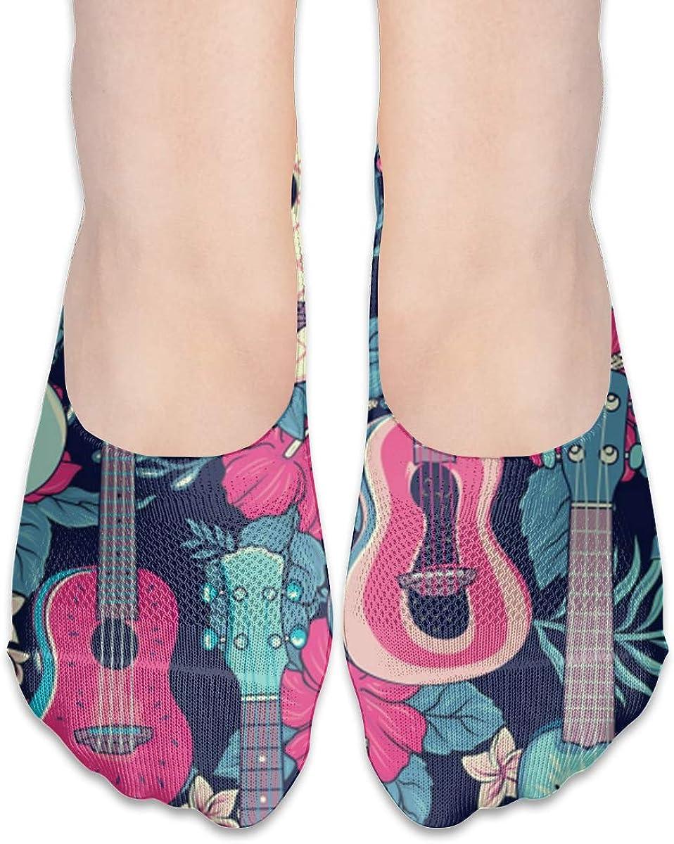 No Show Socks Women Men For Pop Hawaiian Fruity Nature Guitar Flats Cotton Ultra Low Cut Liner Socks Non Slip