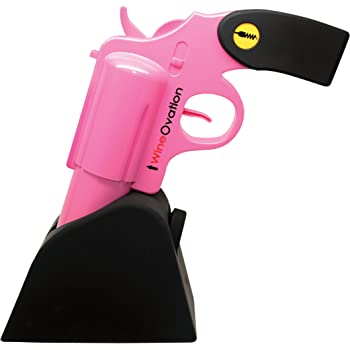 WineOvation Electric Gun Wine Opener (Pink) WNO-01P  - Open your Wine Bottle fast and without hassle - Great for Gun Enthusiasts and Wine Lovers
