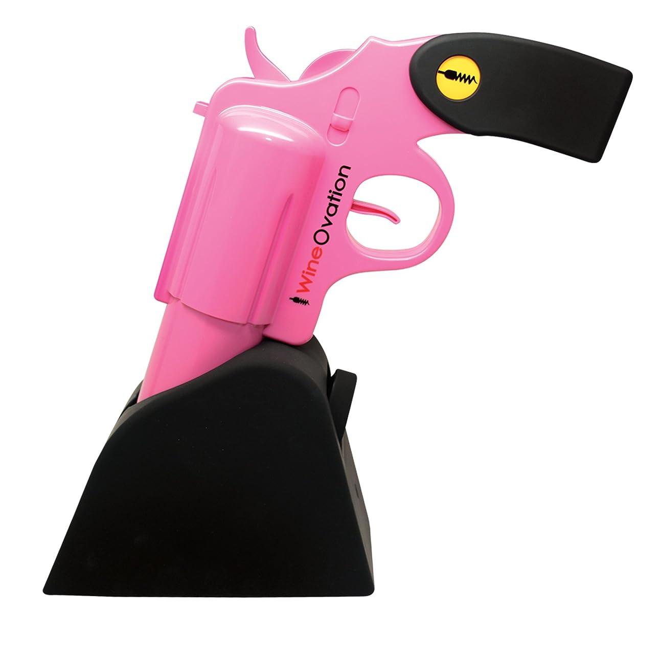 スリッパ主流犯罪WineOvation 拳銃型電動ワインオープナー (ピンク)