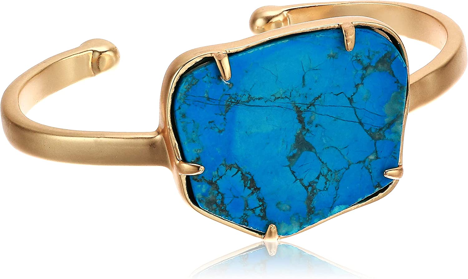 Lucky Brand Turquoise Stone Cuff Bracelet, Gold